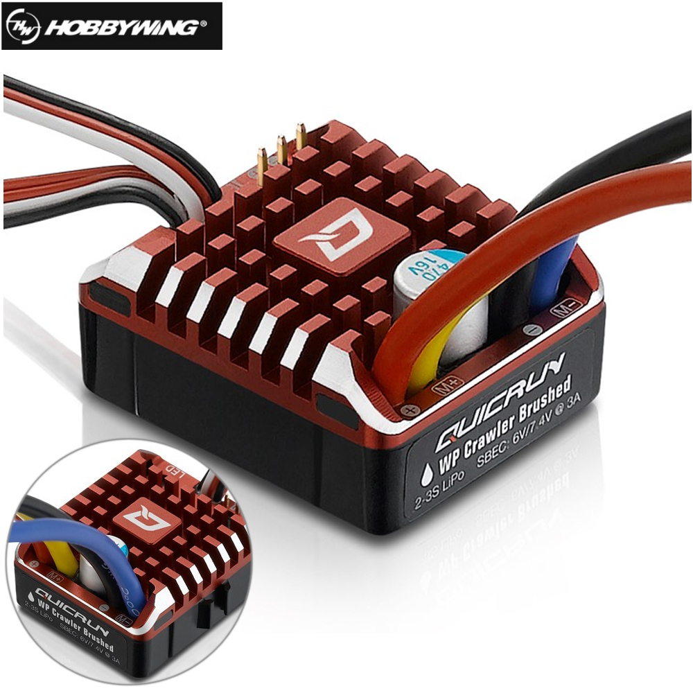 Hobbywing QuicRun WP 1080 Crawler Waterproof Brushed ESC Build-in BEC 2-3S Lipo With LED Programing Card for 1/10 1/8 RC Car