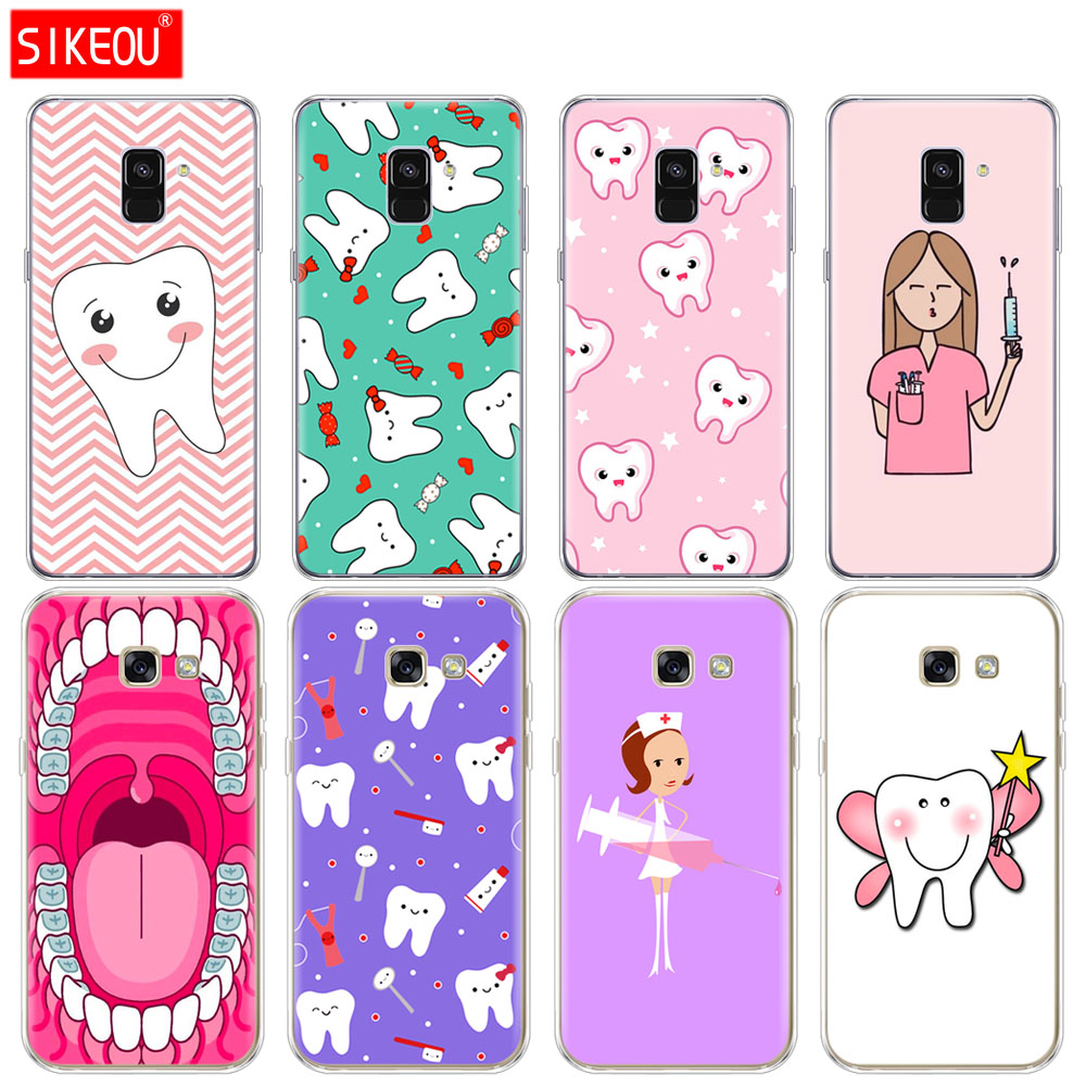 Cellphones & Telecommunications Obliging Silicone Phone Case Cover For Samsung Galaxy A6 A8 2018 A3 A310 A5 A510 A7 2016 2017 Nurse Doctor Dentist Tooth Injections Cool Hot Sale 50-70% OFF Fitted Cases