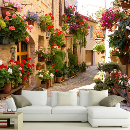 Amazing Aliexpress.com : Buy European Street Scenery Mural Wallpaper Flowers Full  Wall Murals Print Decals Home Decor Photo Wallpaper From Reliable Photo  Wallpaper ... Nice Design