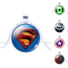 Best Mix Justice League , Captain America , Spider man , Sliver Tone Alloy pendant silvering Necklace Bangle Friendship Gift