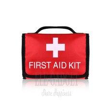 Estuche para botiquín de primeros auxilios plegable, impermeable, para exteriores, portátil, bolsa plegable de alta capacidad para tratamiento de emergencia de viaje en el hogar