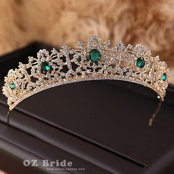 Prix pour Européens et Américains grande nouvelle micro défaut-foncé d'or couronne strass de mariée coiffe-Européenne femelle couronne