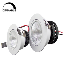 Hot sale 5w 7w 10w cob led downlight dimmable recessed lamp  home led epistar spot led kitchen 110v 220v