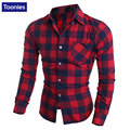 Men's Casual Plaid Shirts Long Sleeve Slim Fit Comfort Soft Cotton Shirt Leisure Styles Man Clothes Chemise Homme Camisa Social