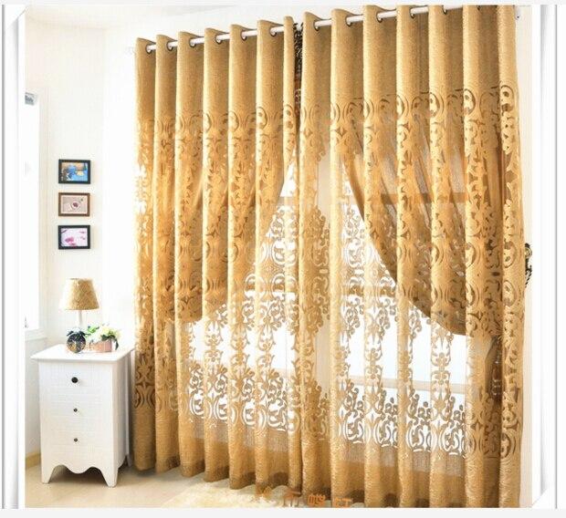 Envío gratis estilo europeo diseño moda cortina jacquard de tulle