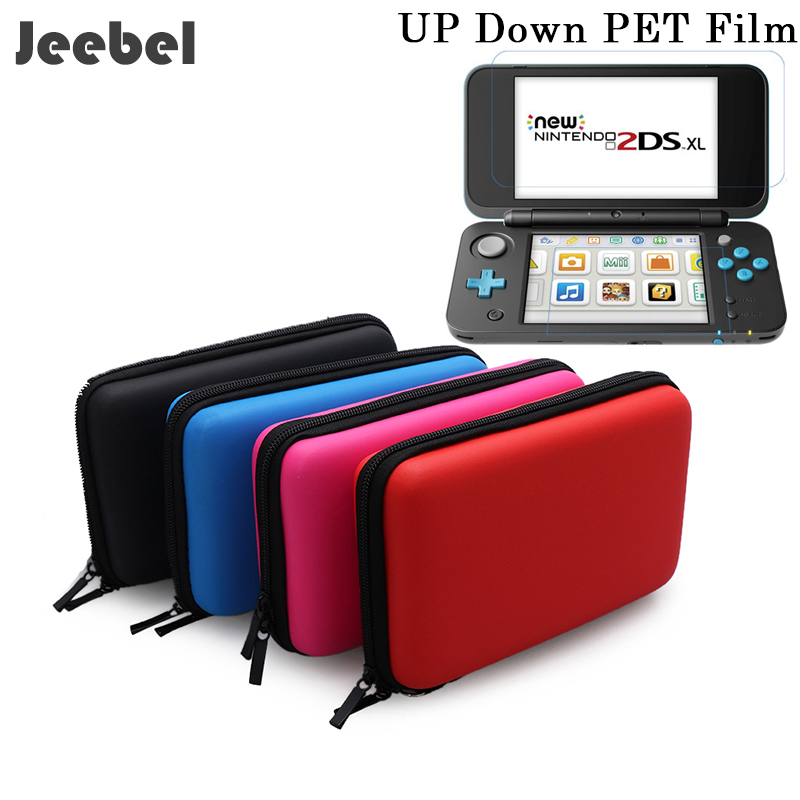 Nintend New 2DS XL Case With Gift HD Film Case EVA Storage Case Cover Funda Game Console Protective Nintend 2DS XL New