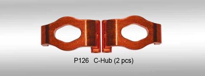 Dhk rc 자동차 부품 c hub (2 pcs) (가공) p126 optimus, optimus xl, maximus, zombie 8e, 9381 용-에서부품 & 액세서리부터 완구 & 취미 의  그룹 1