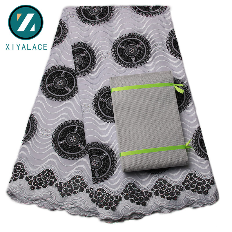 African Soft Lace Fabrics High Quality For Men Cotton Dry Lace Fabric Swiss Voile Swiss Voile