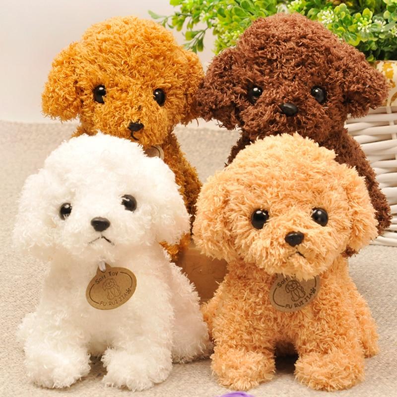 RYRY 25CM Cute Puppy Dolls Curly Teddy Dogs Stuffed Pet