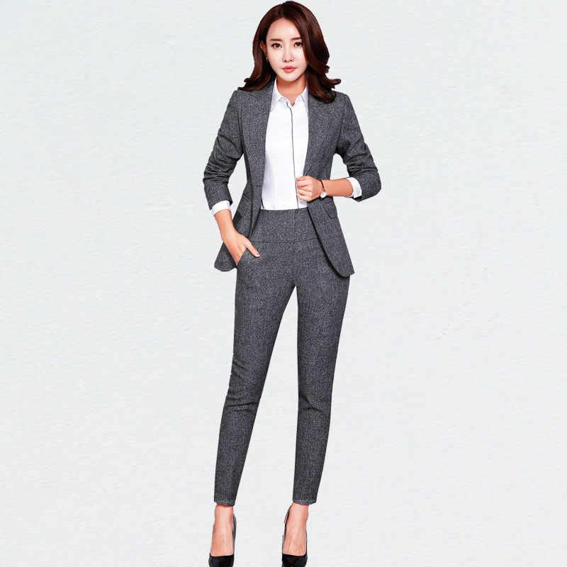 New Blazers Suit Solid Simple Women Pants Suits 2 Two Piece Sets Long Slim Jacket Pants Female High Quality Business Attire A Pant Suits Women S Business Pant Suitswomen Pant Suits Aliexpress