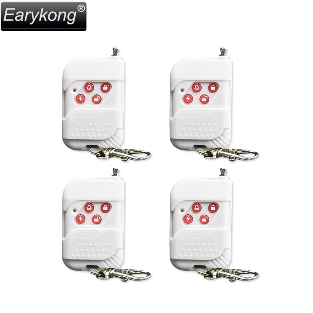Free shipping New High quality GSM font b alarm b font system for 433mhz 4pcs White