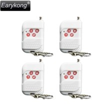 Free shipping New High quality GSM alarm system for 433mhz 4pcs White wireless remote control sensor Home security alarm