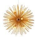 Скандинавские золотые современные подвесные светильники 9/12 головок E14 шар одуванчика подвесной светильник для гостиной ресторана кафе под...