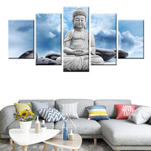 5 Panel Modular HD Print Compassionate Buddha Statue Canvas Poster for Home Decor Wall Art Mural