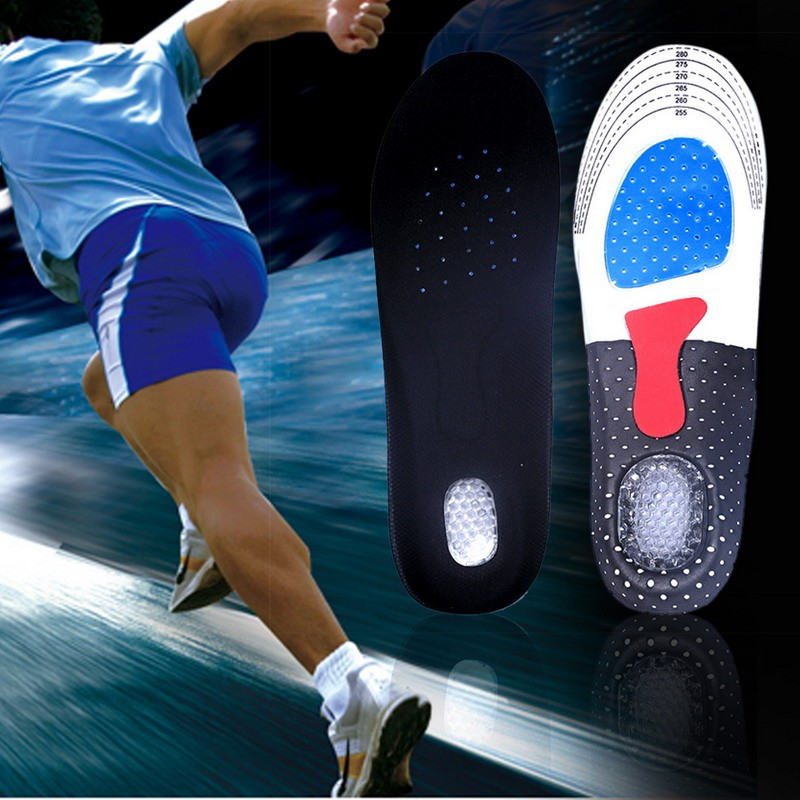 1 Pair Gel Orthotic Arch Support Sport Shoe Pad Running Gel Insoles Insert Cushion Shoe Pad for Men or Women R0117 2