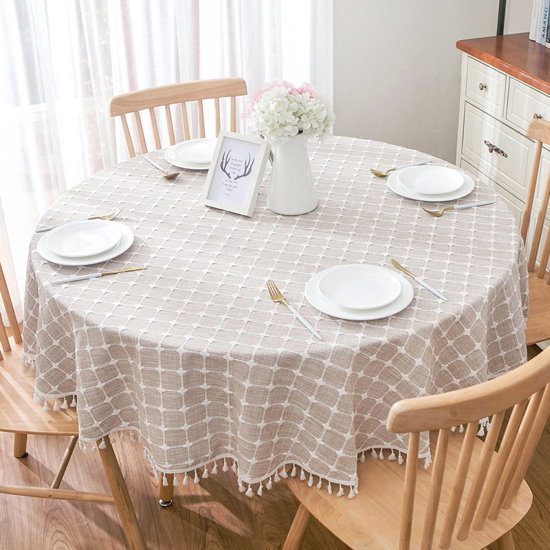 Large Round Table Cloth.Us 16 8 Tablecloth Art Chic Cotton Tea Tablecloths Easter Dining Table Cover Large Round Table Cloth For Wedding Party Tafelkleed E01 In Tablecloths