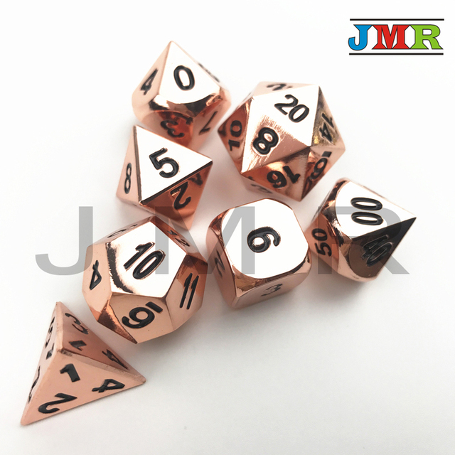 High Quality Alloy Metal Dice Juegos De Mesa Dados Rpg Set Of D4 D20