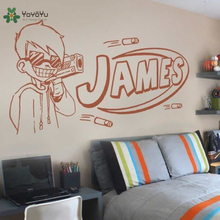 YOYOYU Wall Decal Vinyl Art Room Decoration Nerf Guy Gun Inspired Bedroom Sticker Boys Personalised Home Mural YO583