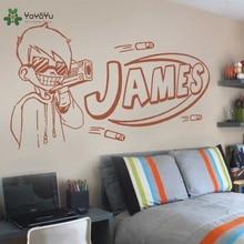 YOYOYU Wall Decal Vinyl Art Room Decoration Nerf Guy Gun Inspired Bedroom Sticker Boys Personalised Home Mural YO583