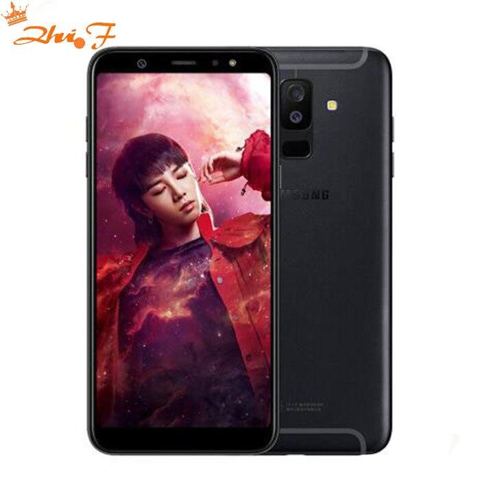 Nouveau Samsung Galaxy A9 Sta r lite A6050 Mobile Téléphone 6.0 4 gb RAM 64 gb ROM Android 8.0 double Arrière Caméra D'empreintes Digitales Téléphone d'origine
