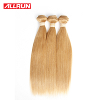 Allrun Hair Brazilian Straight Hair 3 Pcs 27 Color 100 Human Hair Weave Bundles 12 24