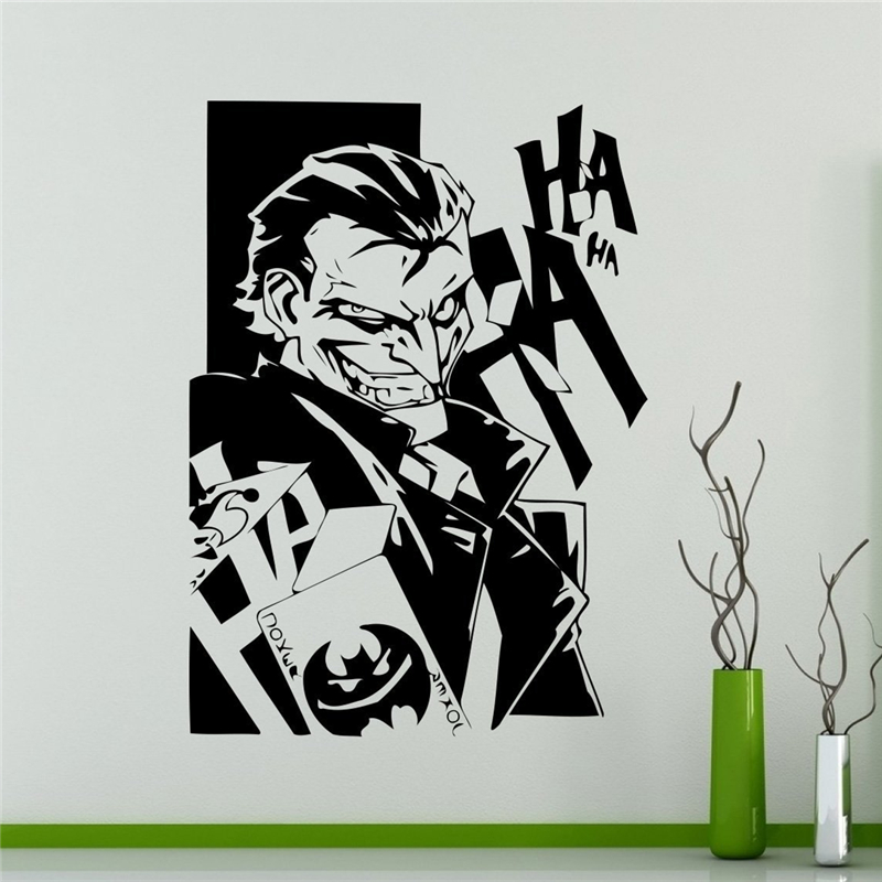 Comics Joker Wall Vinyl Decal Batman Sticker Superhero