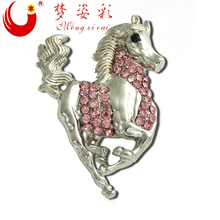 Hot New Products For 2015 animal horse brooch accessories alloy rhinestone crystal brooch X0858