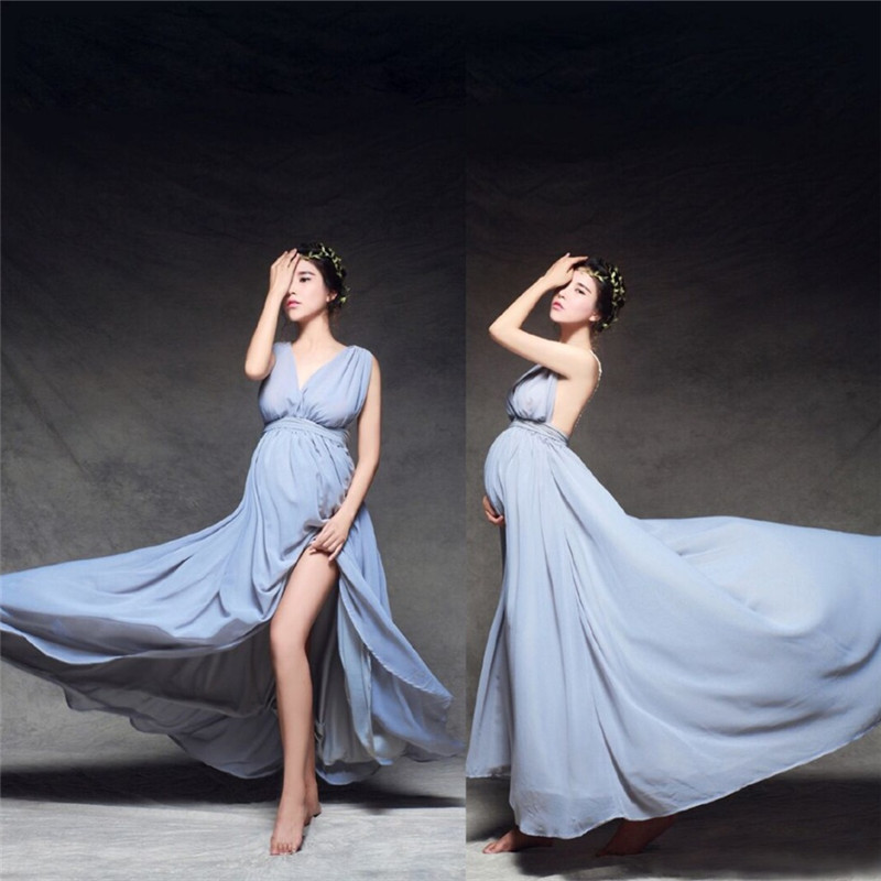 Aliexpress.com : Buy Photography Props Maternity Maxi Gown Chiffon Backless  Dress Fancy Pregnancy Photo Shoot Baby Shower Party Evening Bridesmaid From  ...