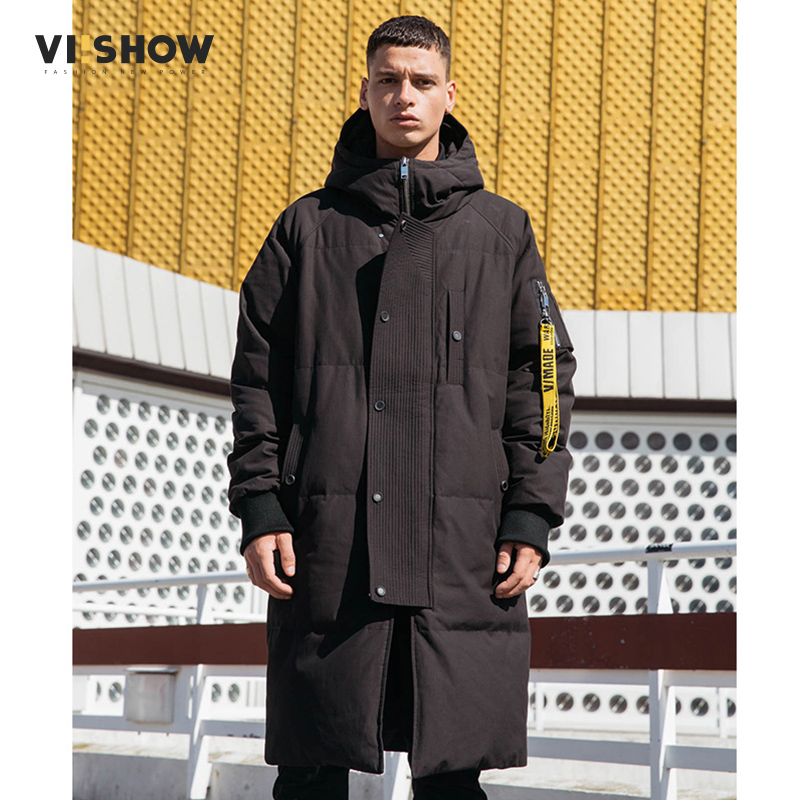 VIISHOW Thick winter down jacket men warm New Fashion brand clothing Top quality Long Male 80% Gray duck down coat YC2659174-XXL viishow 2017 new long winter jacket men brand clothing male cotton autumn coat new top quality black down parkas men mc2118174