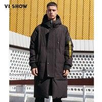 Viishow Толстая зимняя куртка пуховик мужские теплые Новая модная брендовая одежда наивысшего качества длинные мужчина 80% серый пуховик