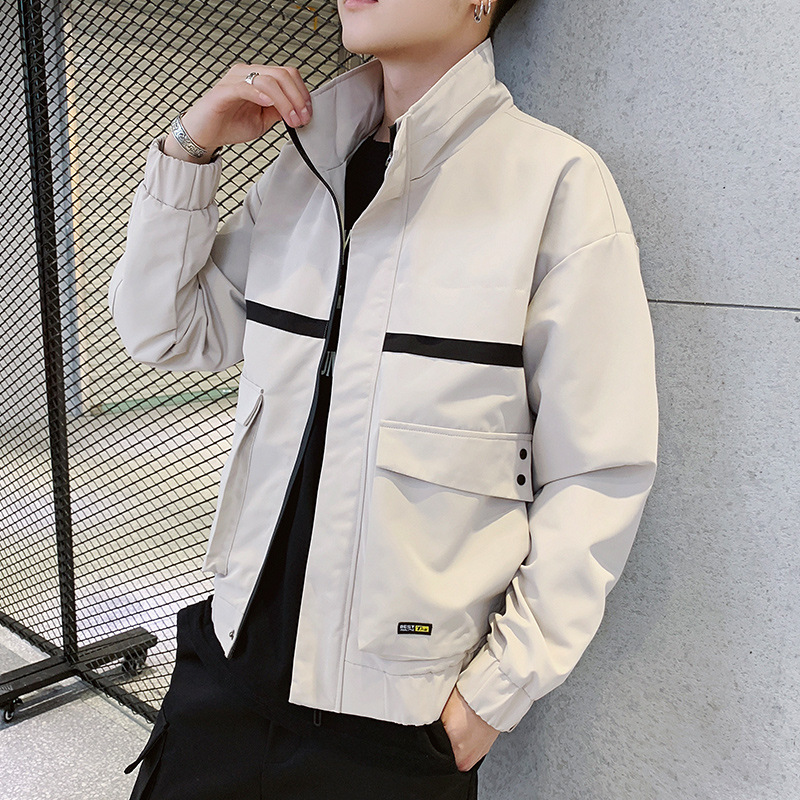 Spring and Autumn Fashion New Men 39 s Tooling Jacket Student Windbreaker Jacket in Jackets from Men 39 s Clothing