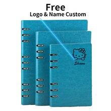 Free Logo Custom Leather A5 Notebook Writing Pads