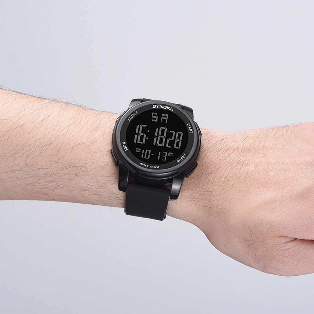 EM SYNOKE Đồng Hồ Nam Đa Chức Năng Quân Sự LED Thể Thao Dual Phong Trào người hồ nam dây đồng hồ kỹ thuật số chống thấm nước Đồng Hồ Relogio kỹ thuật số