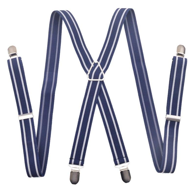 Bekleidung Zubehör ZuverläSsig Mode 10 Farben 4 Clips Herren Hosenträger 2,5 Cm Verstellbares Gummiband X-zurück Hosenträger Für Frauen Freies Verschiffen 2,5*100 Cm Verbraucher Zuerst