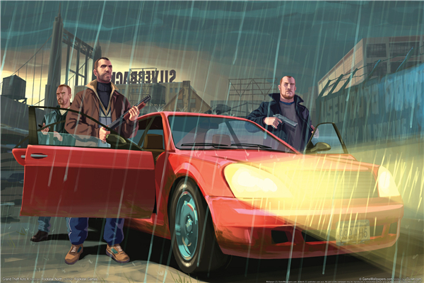 Custom Canvas Art Grand Theft Auto Poster GTA San Andreas Game Wallpaper Grand Theft Wall Stickers Niko Bellic Mural Gift #768#