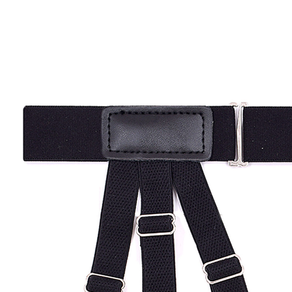 Men Suspenders Keeping Shirt Tucked Braces Anti-Slip Hidden Suspenders Shirt Stays Belt With Non-slip Locking Clip Garters Strap