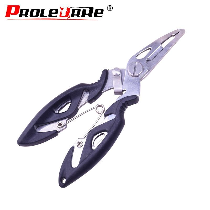 Proleurre Fishing Plier Scissor Braid Line Lure Cutter Hook Remover Tackle Tool Cutting Fish Use Scissors Fishing Pliers PR-241