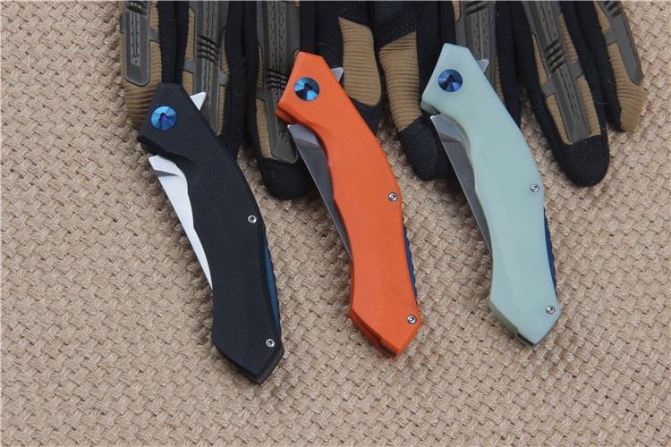 Venta caliente 58-60HRC D2 cuchilla G10 mango 3 colores cuchillo - Herramientas manuales - foto 6