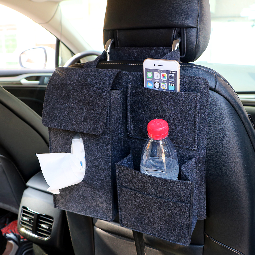 Universal Car Back Seat Organizer for Drink Tissue Paper Phone Holder Stowing Tidying Storage Hanging Bag Portable Car-styling partol removable car tissue box car sun visor tissue paper holder cartoon auto seat back armrest hanging paper napkin container