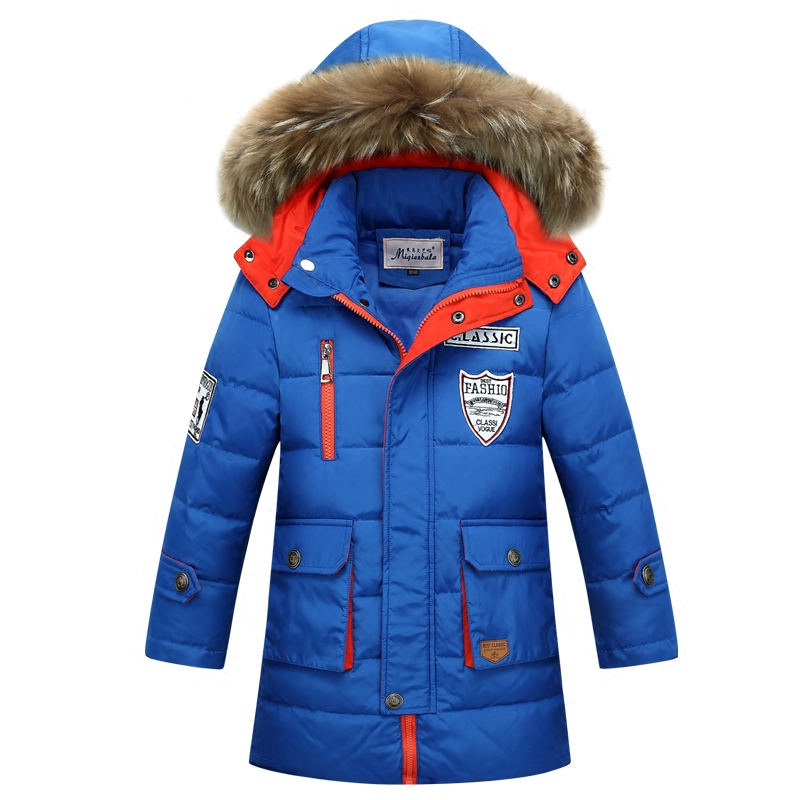 822873261 Teen Boys Winter Down Jackets   Coats Fur Collar Thicken Warmly ...