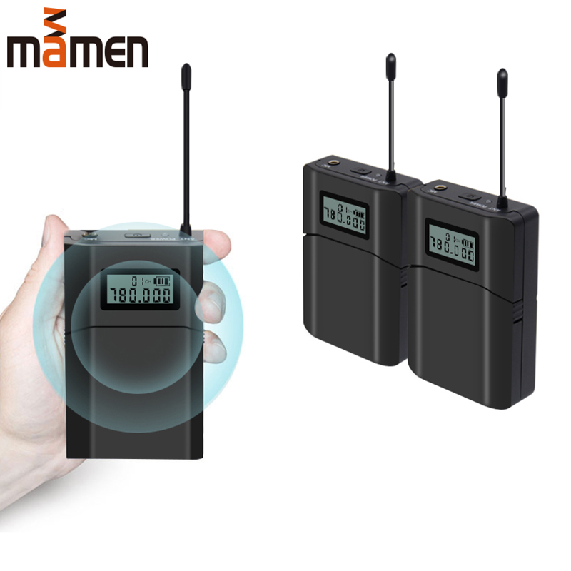 Wireless M8 UFH High Frequency Receiver Transmitter Wireless Lavalier Microphone 6 Channels Remote Camera Recording MicrophoneWireless M8 UFH High Frequency Receiver Transmitter Wireless Lavalier Microphone 6 Channels Remote Camera Recording Microphone