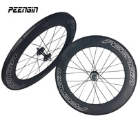700C Full Carbon 88mm Track Bike Carbon Wheelsets Fixed Gear 23mm Width