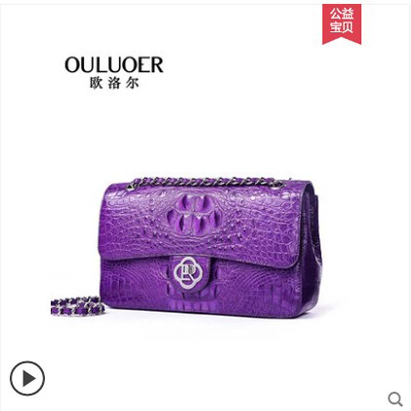 ouluoer Fashionable single-shoulder crossbody bag leather lady bag high-grade chain small square wonmen bag