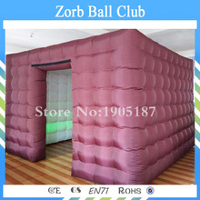 Free Shipping 2.4*2.4*2.4m Promotional New LED Inflatable Square Photo Booth For sale(China)