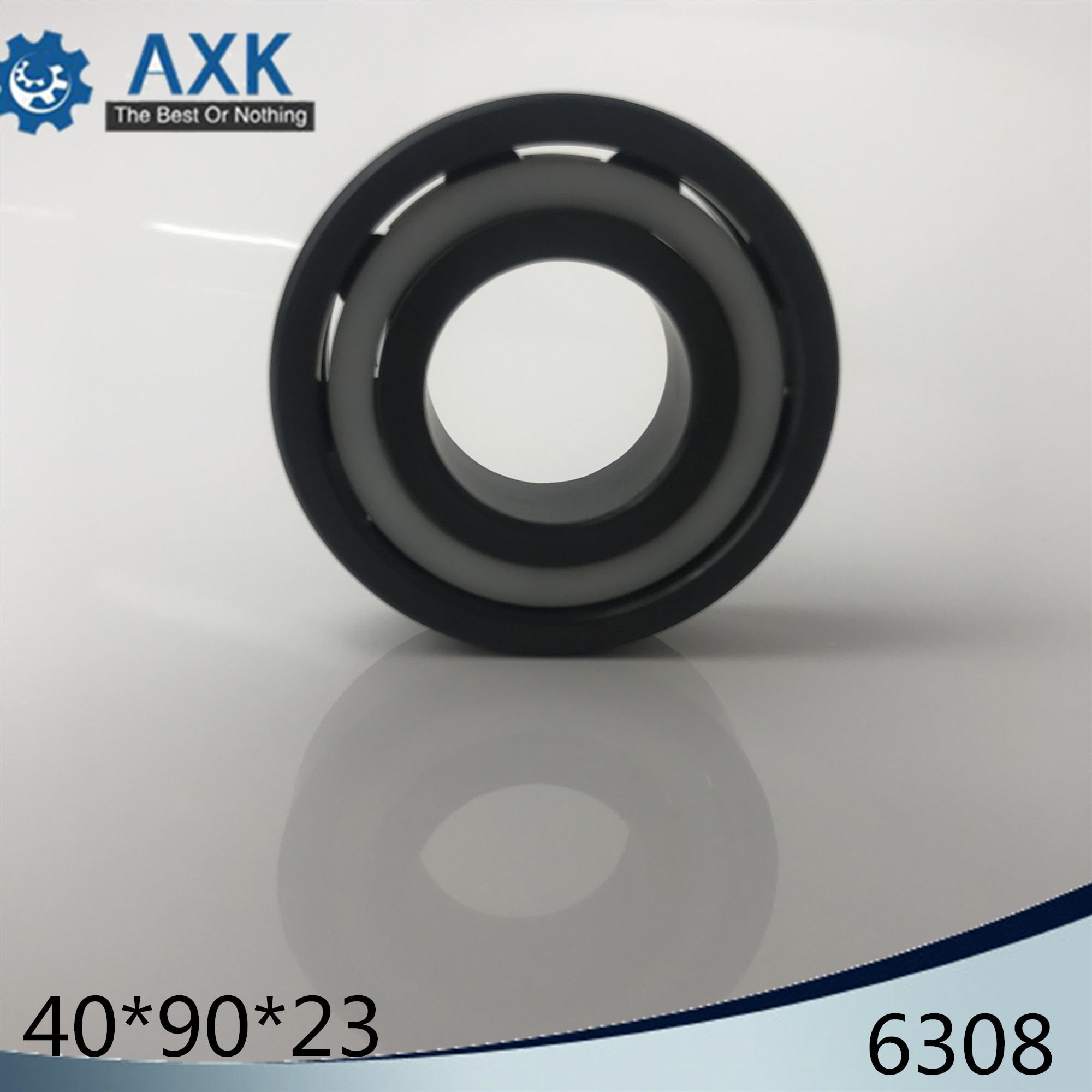6308 Full Ceramic Bearing ( 1 PC ) 40*90*23 mm Si3N4 Material 6308CE All Silicon Nitride Ceramic Ball Bearings6308 Full Ceramic Bearing ( 1 PC ) 40*90*23 mm Si3N4 Material 6308CE All Silicon Nitride Ceramic Ball Bearings