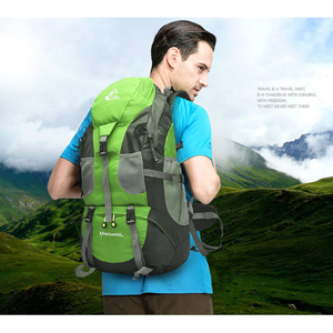 Image 5 - 무료 나이트 50L 야외 하이킹 배낭, 방수 여행 산 배낭, 트레킹 캠핑 등산 가방, 스포츠 하이킹 가방