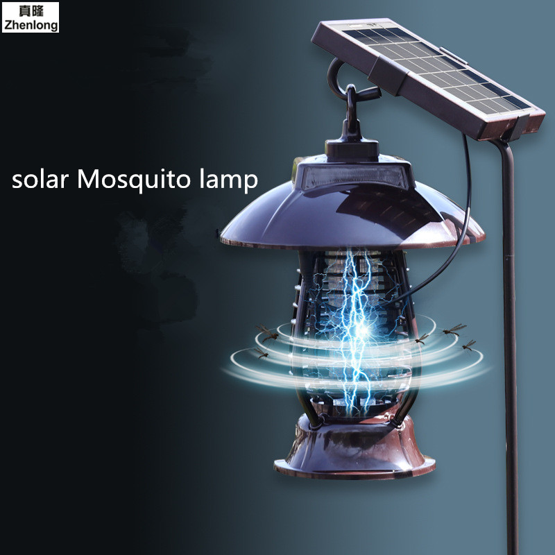 Solar Mosquito Insect Lamp Garden Outdoor Electronics Physical Repellent Light Control 24 SMD Waterproof Solar Lamp Garden Led цена