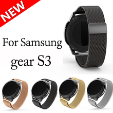 Smart watch correa de metal magnético liberación milanés banda de acero inoxidable para samsung gear s3 reloj