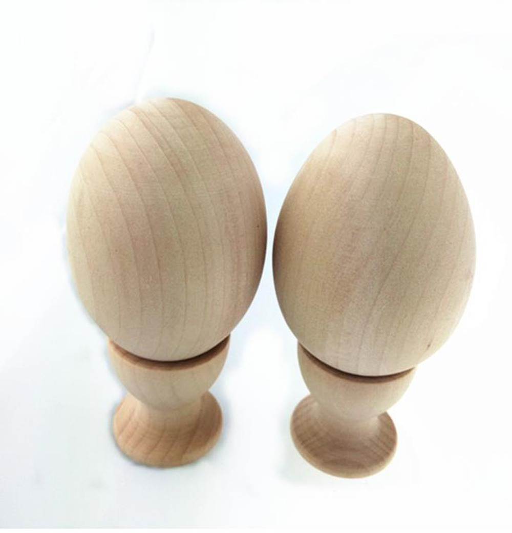 Lets make Wooden Toys Montessori Baby Toys 2et 4pct Eco Friendly baby Gifts, Wooden Easter Egg Natural Wood Toy, Wooden Toy