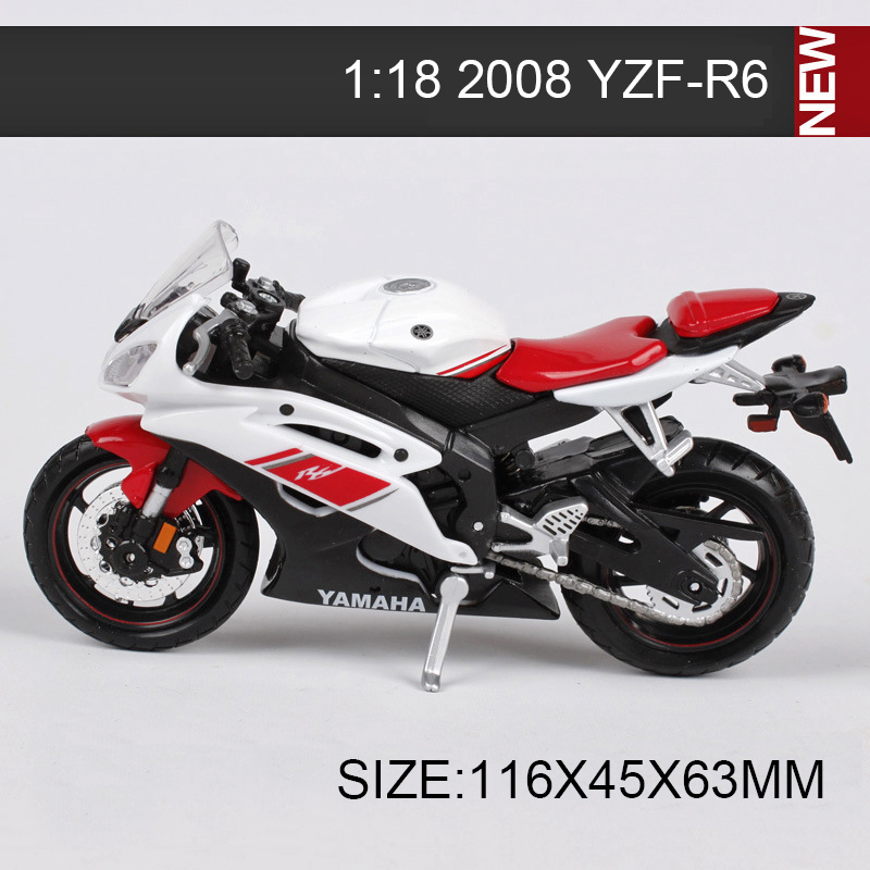 ymh motorcycle 2008 yzf r6 2006 fjr 1300 yz450f 1 18 metal diecast models motor bike miniature. Black Bedroom Furniture Sets. Home Design Ideas